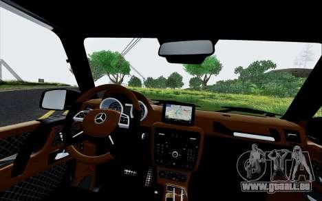 Mercedes Benz G65 Black Star Edition für GTA San Andreas Seitenansicht