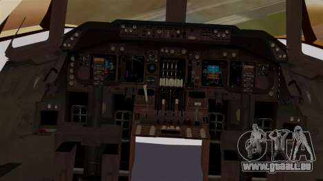 Boeing 747 MasKargo pour GTA San Andreas vue intérieure