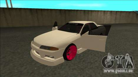 Nissan Skyline R32 Sedan Monster Energy Drift für GTA San Andreas zurück linke Ansicht