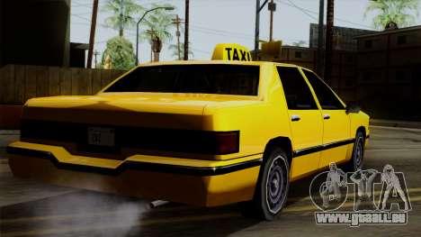 Elegant Taxi pour GTA San Andreas laissé vue
