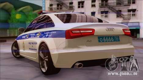 Audi A6 DPS pour GTA San Andreas laissé vue