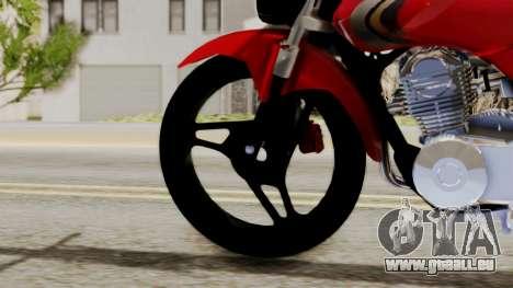 Yamaha YBR Imitacion pour GTA San Andreas sur la vue arrière gauche