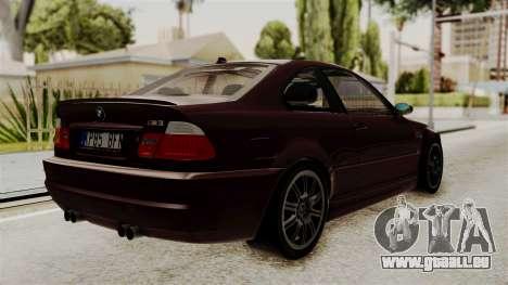 BMW M3 E46 2005 Stock pour GTA San Andreas laissé vue