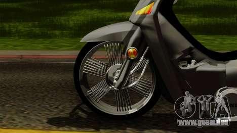 Honda Wave Tuning für GTA San Andreas zurück linke Ansicht