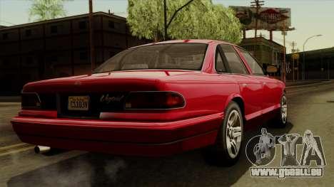 GTA 5 Vapid Stanier I IVF pour GTA San Andreas laissé vue