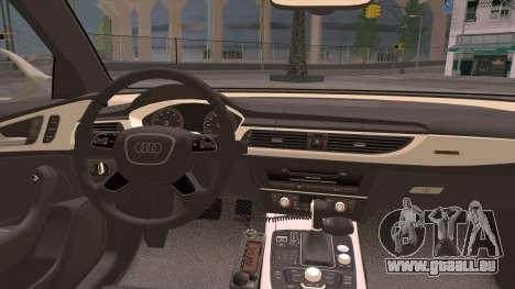 Audi A6 DPS pour GTA San Andreas vue intérieure