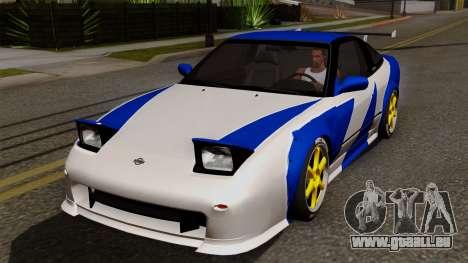 Nissan 180SX Street Golden Rims für GTA San Andreas Unteransicht
