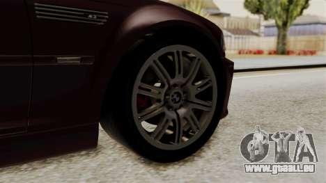 BMW M3 E46 2005 Stock pour GTA San Andreas sur la vue arrière gauche