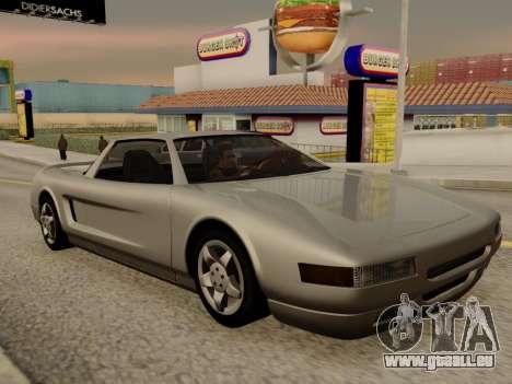 Infernus PFR v1.0 final pour GTA San Andreas vue intérieure