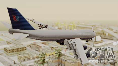 Boeing 747 United Airlines für GTA San Andreas linke Ansicht