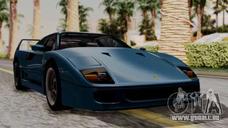 Ferrari F40 1987 with Up without Bonnet HQLM pour GTA San Andreas