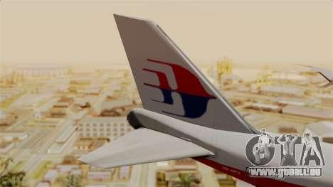 Boeing 747 MasKargo pour GTA San Andreas sur la vue arrière gauche