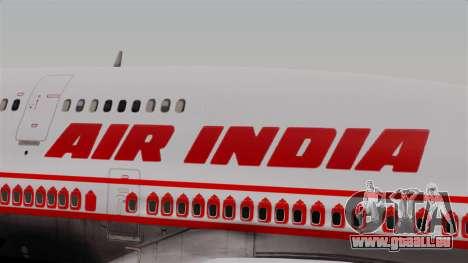 Boeing 747-400 Air India Old pour GTA San Andreas vue arrière