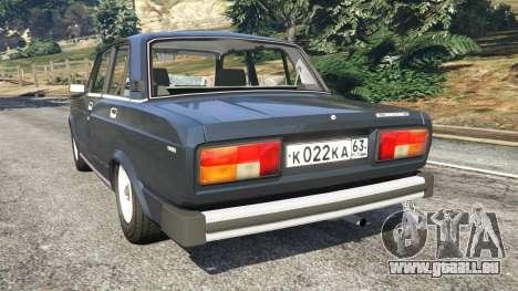 GTA 5 La VAZ-2105 arrière vue latérale gauche