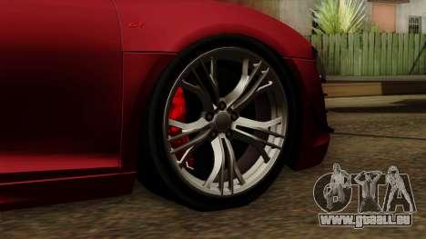 Audi R8 GT Spyder 2012 pour GTA San Andreas sur la vue arrière gauche