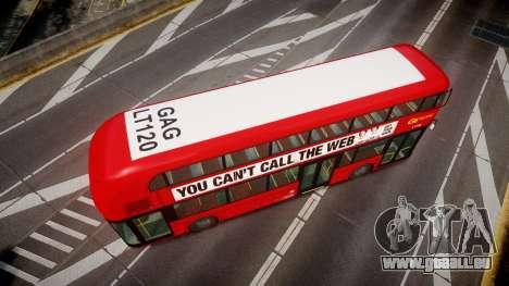 Wrightbus New Routemaster Go Ahead London pour GTA 4 est un droit