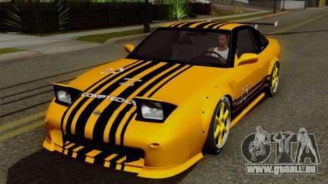 Nissan 180SX Street Golden Rims für GTA San Andreas obere Ansicht