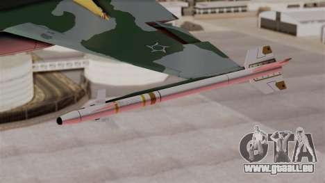Northrop F-5E Tiger II Texture FAB pour GTA San Andreas vue de droite
