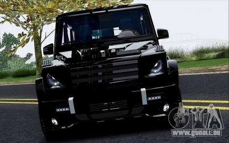 Mercedes Benz G65 Black Star Edition pour GTA San Andreas vue intérieure
