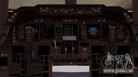 Boeing 747-200 Air India VT-ECG für GTA San Andreas Innenansicht