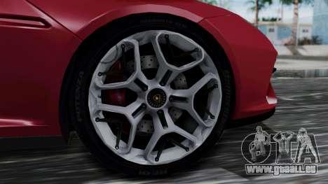 Lamborghini Asterion 2015 Concept pour GTA San Andreas sur la vue arrière gauche