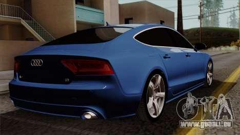 Audi A7 Sportback 2009 für GTA San Andreas linke Ansicht