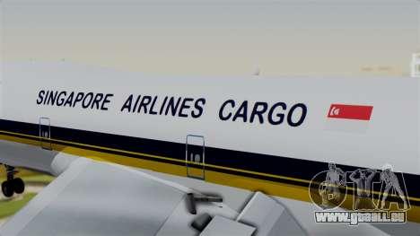 Boeing 747 Singapore Cargo pour GTA San Andreas vue arrière