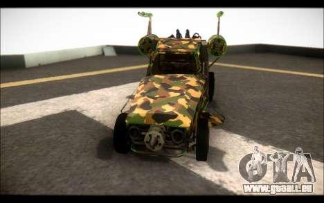 Camo Space Docker pour GTA San Andreas vue de droite