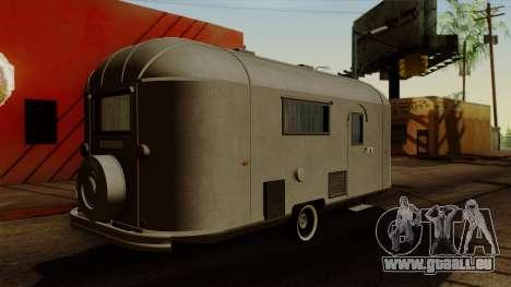 Camper Trailer 1954 pour GTA San Andreas laissé vue