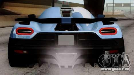 Koenigsegg Agera R 2014 Carbon Wheels pour GTA San Andreas vue de dessous