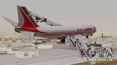 Boeing 747-200 Air India VT-ECG für GTA San Andreas linke Ansicht