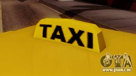 Elegant Taxi für GTA San Andreas zurück linke Ansicht