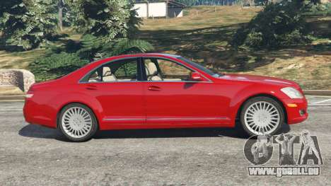 GTA 5 Mercedes-Benz S550 W221 v0.4.1 [Alpha] vue latérale gauche
