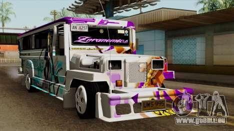 Znranomics - Costum Jeepney (Gabshop) pour GTA San Andreas vue de droite