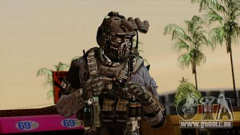 CoD Custom Ghost Retextured pour GTA San Andreas