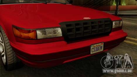 GTA 5 Vapid Stanier I IVF pour GTA San Andreas vue de droite