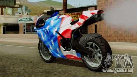 Bati America Motorcycle für GTA San Andreas linke Ansicht
