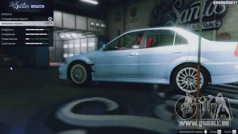 Mitsubishi Lancer Evo VI GSR v1.0 pour GTA 5