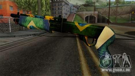Brasileiro Combat Shotgun v2 pour GTA San Andreas deuxième écran