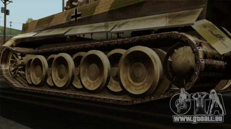 Panzerkampfwagen VI Ausf. E Tiger No Interior pour GTA San Andreas sur la vue arrière gauche