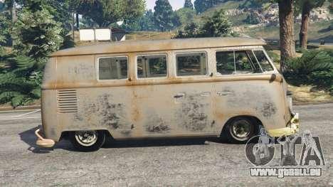 GTA 5 Volkswagen Transporter 1960 rusty [Beta] vue latérale gauche