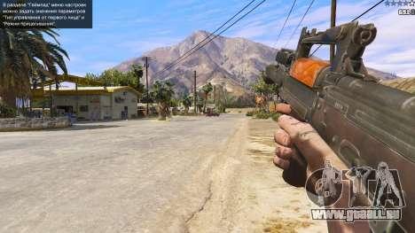 GTA 5 OTS-14 Groza de Battlefield 4 cinquième capture d'écran