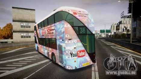 Wrightbus New Routemaster für GTA 4 hinten links Ansicht