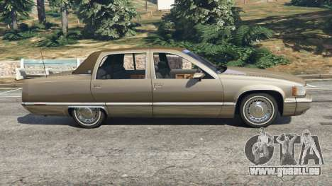 GTA 5 Cadillac Fleetwood 1993 vue latérale gauche