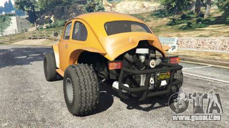 GTA 5 Volkswagen Beetle Baja Bug [Beta] hinten links Seitenansicht