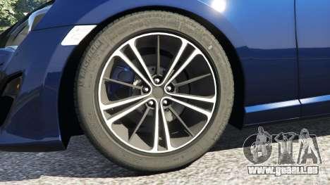 GTA 5 Toyota GT-86 v1.3 arrière droit vue de côté