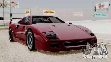 Ferrari F40 1987 without Up Lights IVF für GTA San Andreas