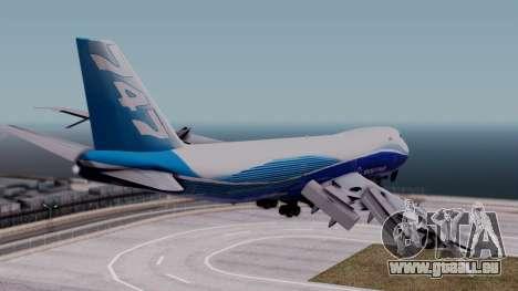 Boeing 747-400 Dreamliner Livery pour GTA San Andreas laissé vue