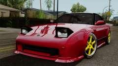 Nissan 180SX Street Golden Rims pour GTA San Andreas