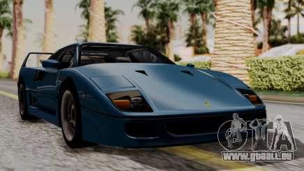 Ferrari F40 1987 with Up without Bonnet HQLM für GTA San Andreas